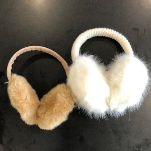 Two pair ear muffs: one pair Banana Republic
